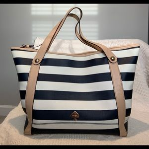 Kate Spade Stanley Large Tote in French navy/cream